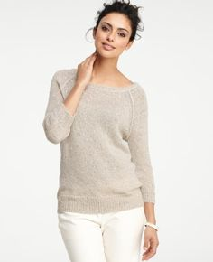 Snowflake Sequin Sweater @ Ann Taylor