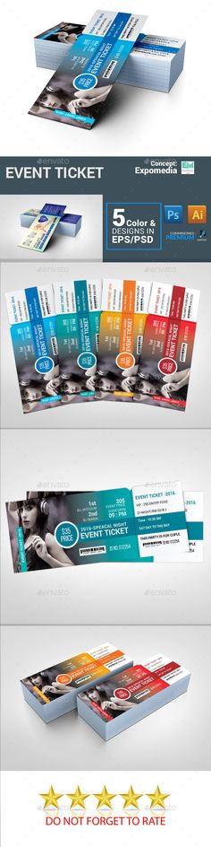 Party Event Ticket — Photoshop PSD #summer #season • Download ➝ https://graphicriver.net/item/party-event-ticket/19065779?ref=pxcr