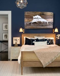 IN STOCK  White Marlin Pallet Art Home Décor Wall Décor