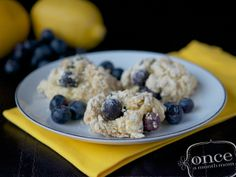 Gluten free diary free and can be made egg free Lemon Blueberry Scones. so yummy! also Paleo