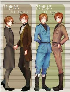 Growing Italians Hetalia Part 3 Romano and Italy - Third in a series showing Feliciano and Lovino growing up: 19th and 20th centuries.