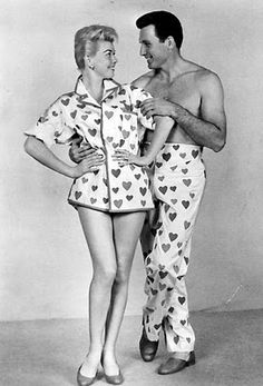 Doris Day and Rock Hudson in the 'Pajama Game'- I just knew these would come back in fashion one day!
