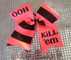 Cheer Bow - OOH KILL'EM on Etsy, $11.00
