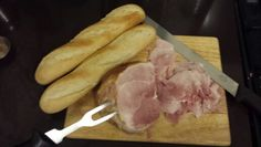 Honey roast ham with french baguette @ Phil's Cuisine