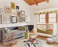 love the idea of a chaise or day bed instead of a chair... with big pillows against a wall?