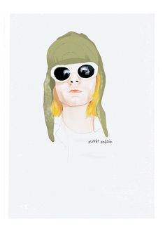 Kurt Cobain  Kurdt Kobain by andlizzy on Etsy, $40.00