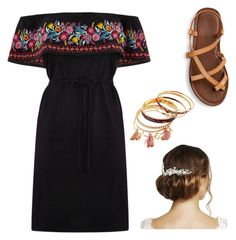"""Cinco De Mayo Outfit"" by melina-velasco on Polyvore featuring Oasis and Jon Richard"