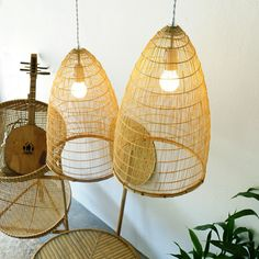 Our new creation…The Cone Bamboo Pendant Lamp! Often used as a fish trap in the south we decided to hang it from the ceiling. Pendant Lamp, Pendant Lighting, Bamboo Pendant Light, Basket Lighting, Wicker Furniture, Light Shades, Lampshades, Hanging Chair, Bulb