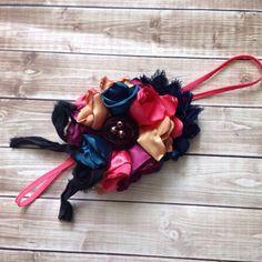 Fall Inspired Headband-Shabby Flower Headband-Baby Headbands-Couture Headband-Newborn Headband-M2M Matilda Jane-M2M Mustard Pie by LosBowtique on Etsy https://www.etsy.com/listing/246673090/fall-inspired-headband-shabby-flower