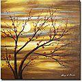 Hand-painted 'Red Bud Rhythm' Canvas Art | Overstock.com