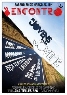 Poster do Culto Jovem ADECAMP em março