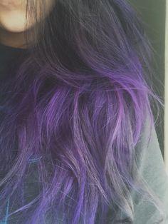 Purple tipping purple hair tips, pink purple hair, pastel hair, Purple Hair Tips, Pink Purple Hair, Colored Hair Tips, Funky Hair Colors, Hair Colours, Colorful Hair, Dyed Hair Pastel, Beautiful Hair Color, Funky Hairstyles