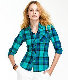 Cotton Madras Shirt  #LLBeanSignature