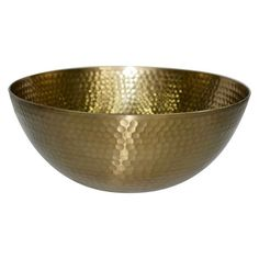 Threshold™ Hammered Large Serving Bowl with Gold Finish - for the dining table, filled with succulents or an orchid