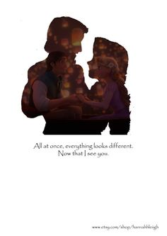 Tangled Rapunzel and Flynn Silhouette Print/Wall Hanging Rapunzel Y Eugene, Rapunzel Y Flynn, Disney Rapunzel, Disney Couples, Disney Love, Disney Magic, Disney Princess Pictures, Disney Pictures, Disney And Dreamworks