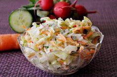 Komu dokładkę?: Surówka z sałaty lodowej Potato Salad, Cabbage, Salads, Potatoes, Vegetables, Ethnic Recipes, Food, Meal, Potato