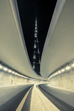 Photo: highway to Burj Kalifa