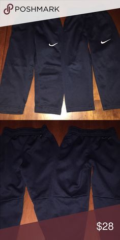 Nike thermafit pants Very good condition. Both are the same. Navy. Nike Bottoms
