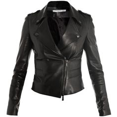Givenchy Perfector leather biker-jacket ($3,361) ❤ liked on Polyvore
