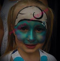 Smurfette face painting