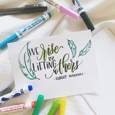 Enjoying last couple days in Hawaii ☺️ This quote goes to all my beloved #calligrafriends ❤️ I don't think i can last this long doing this lettering hobby without u guys. Love this lettering community!  #letteringwithpositivity @leslie.writes.it.all @jeshypark @lettersbyshells