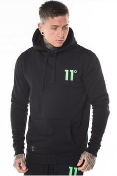 Hyper Green Logo Pull Over Hoodie - Black  £54.99