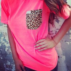 Cheetah Pocket Tee