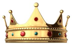Gold Crown with Diamonds PNG Clipart