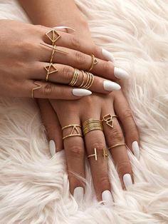 Tags: Alloy, Gold, Casual, Gold, No Stone Minimal Jewelry, Stylish Jewelry, Simple Jewelry, Cute Jewelry, Jewelry Accessories, Jewelry Design, Hand Jewelry, Womens Jewelry Rings, Women Jewelry