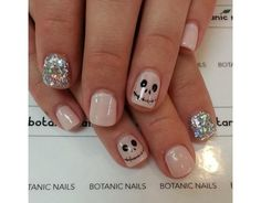 12. For an easy look - just paint skulls on one nail. Done.