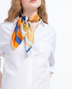 Image 1 of MULTICOLORED BANDANA SCARF from Zara