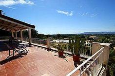 Villa Bianca: Ferienhaus mit Pool in Syrakus Isola - Herrlicher Blick von der großen Terrasse - www.sicilia-ferien.de
