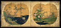 Kano Chikanobu (Japanese, 1660–1728). Autumn and Winter Flowers and Birds, Edo period, 17th–18th century, Japanese. The Metropolitan Museum of Art, New York. Gift of Richard W. Courts, in memory of Mr. and Mrs. Thomas J. Watson, 1966 (66.149)