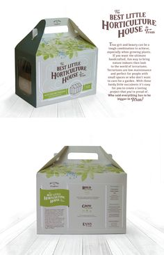 Packaging design for a Build Your Own Terrarium Kit titledThe Best Little Horticulture House in Texas Box Packaging, Packaging Design, Texas Homes, Cv Template, Growing Plants, Horticulture, Boxes, Indoor, Good Things