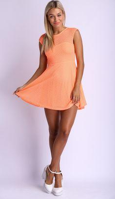 Flying Solo Baby Doll Dress in Orange $39.99 http://www.popcherry.com.au/new-arrivals/