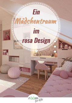Gestaltungsidee für ein Mädchenzimmer im rosa Design Today we present to you a design idea for a girls' room, which is held in the shade of pink. Diy Room Decor, Bedroom Decor, Home Decor, Tumblr Rooms, Small Loft, Pink Design, Design Design, My New Room, Living Spaces