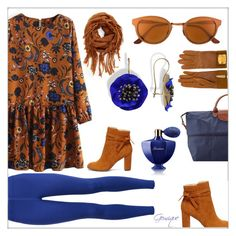 """Blue Flower 💙"" by gemique ❤ liked on Polyvore featuring NIKE, BP., Hermès, RetroSuperFuture, Longchamp, Sole Society and Guerlain"