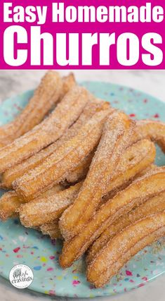 Learn how to make churros with this easy churros recipe. Scroll down for the easy churros recipe that's perfect for Cinco de Mayo celebrations! Köstliche Desserts, Delicious Desserts, Yummy Food, Spanish Desserts, Homemade Desserts, Easy Homemade Snacks, Disney Desserts, Quick Snacks, Fun Easy Recipes