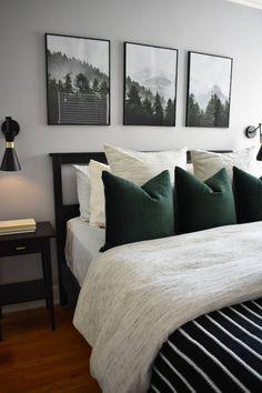 Bedroom Green, Earthy Bedroom, Modern Master Bedroom, Modern Minimalist Bedroom, Bedroom Colors, Master Suite, Home Decor Bedroom, Bedroom Ideas, Bedroom Furniture