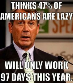 House republicans REFUSE to work more than 97 days in 2014.  Vote them all out!