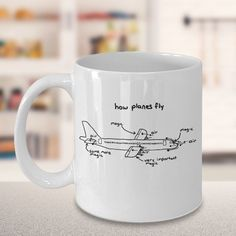 How Planes Fly  Aerospace Engineer 11oz Mug