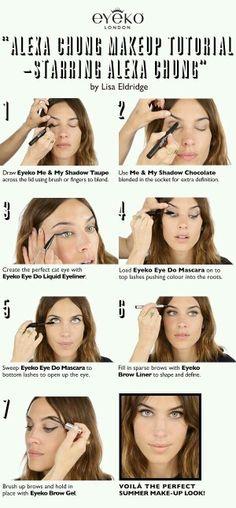 Alexa Chung Makeup Tutorial: Starring Alexa Chung - My best makeup list Alexa Chung Makeup, Alexa Chung Style, Eye Makeup, Makeup Tips, Hair Makeup, Makeup Tutorials, Makeup Ideas, Beauty Make Up, Hair Beauty