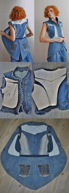 Шитье Denim upcycle jacket vest The post Шить 2019 Шитье Denim upcycle jacket vest The post Шитье appeared first on Denim Diy. The post Шитье Denim upcycle jacket vest The post Шить 2019 appeared first on Denim Diy. Recycled Denim, Recycled Fashion, Diy Clothing, Clothing Patterns, Recycled Clothing, Bag Patterns, Jeans West, Diy Kleidung, Diy Jeans