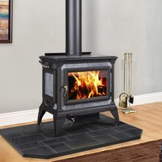 Hearthstone's signature stove! Functional, beautiful and just the right size for your mid-sized home. Top or rear flue exits, large fire box for extra heat output and soapstone facing on the oven-style side-loading door (available with left or right door). Glass stays clean for fire viewing.    View complete information and specifications!       Note:  This item is excluded from all free shipping promotions.