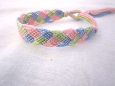 Friendship Bracelet Waves Pink Blue Green by PreciousBowtique, $3.15