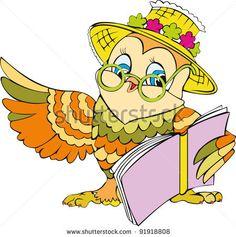 Cartoon Owls Illustration Photos et images de stock | Shutterstock
