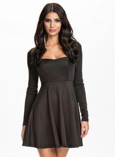 Seam Cut Out Back Empire Dress - OASAP.com