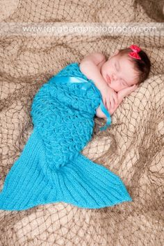 I may not have a newborn any more, but I couldn't resist pinning this adorable mermaid tail.
