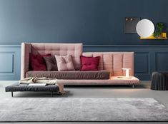 Table, chair, sofa, bed and design complement. Modern Sofa, Modern Interior, Interior Design, Design Interiors, House Furniture Design, House Design, Furniture Ideas, Sweet Home, Winter Home Decor