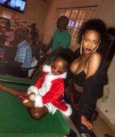 rihannainfinity:    December 25: Rihanna & Majesty celebrating Christmas in Barbados.